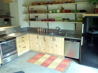 CIty Cabins - Kitchen with SS counter