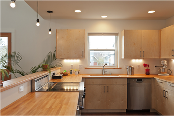 Kitchen at Ballard Net Zero