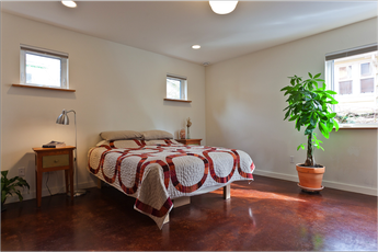 Bedroom at Ballard Net-Zero